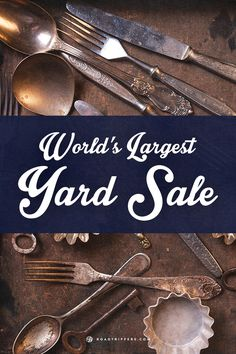 Garage sale season is upon us. Do it the right way with a visit to the World's Largest Yard Sale! Over 690 miles of treasures!