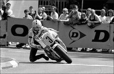 Joey Dunlop passes Ramsey at the Isle of Man TT, 1988