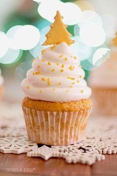 Cupcakes a diario: Cupcakes de jengibre e higos, Feliz Navidad y GRACIAS en mayúsculas