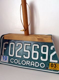 License plate dust pan-strange, but I do have a couple I could use!