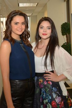 Maia Mitchell and Grace phipps - hanging out with my bestie
