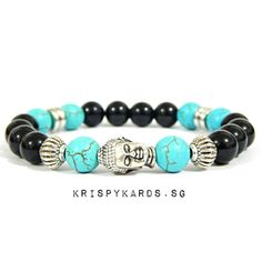 Check out Turquoise Stone x Glossy Black Onyx Beads Bracelet for $10.00. Get it on Shopee now! https://shopee.sg/krispykards.sg/42435641 #ShopeeSG