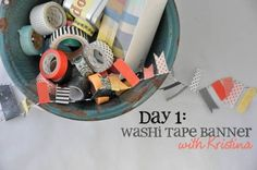 Mel Stampz: Crafty tape ideas round-up! {washi or other tape varieties - How to: make them, use them, and store them} Tapas, Cute Crafts, Crafts For Kids, Diy Crafts, Washi Tape Crafts, Paper Crafts, Cute Banners, Decorative Tape, General Crafts