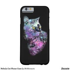 Nebula Cat Phone Case Barely There iPhone 6 Case Galaxy Space Kitten Cool Stars Starry Supernova