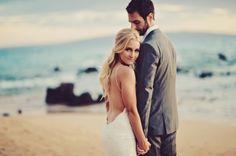 Glam Hawaiian Wailea Wedding { Maui } - Modern Weddings Hawaii : Bridal Inspiration Good.