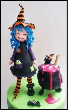 MESSY WITCH CAKE-- Made from a Modeling Chocolate n Fondant.