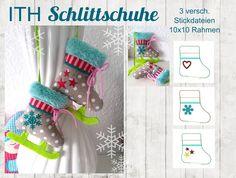 ♥ ITH Stickdatei Schlittschuh 10x10 ♥  von StoffCut auf DaWanda.com