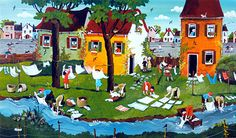 Whiter Than White! by Marie-Louise Batardy - GINA Gallery of International Naive Art