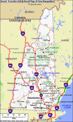 MAP OF NEW HAMPSHIRE - Click now for City Maps