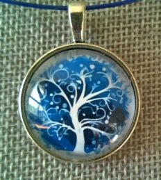 Blue necklace Blue jewelry Tree of life pendant Tree of Tree Of Life Necklace, Tree Of Life Pendant, Blue Necklace, Pendant Necklace, Jewelry Tree, Jewelry Box, Glass Pendants, Necklaces, Handmade