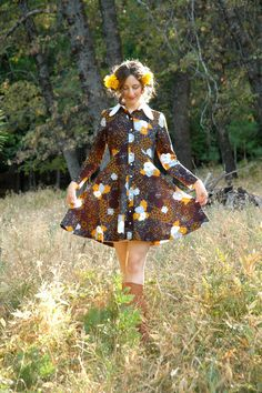 Size Small... 1960s Mod Autumn Mini Dress... by AstralBoutique, $38.00