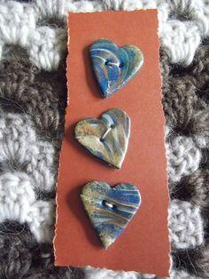 Heart shaped swirly effect buttons