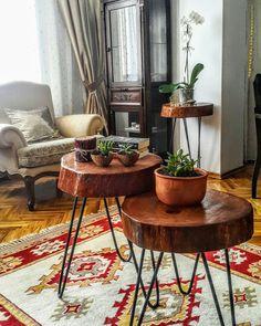Ahşabın doğallığı ve metalleri uyumu👍 Entryway Table Modern, Entryway Tables, Stylish Coffee Table, Live Edge Table, Circus Party, Wood Creations, Types Of Art, Wooden Diy, Wooden Furniture