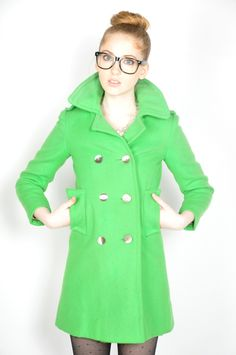 I want a Kelly Green peacoat this winter. I especially want this ...