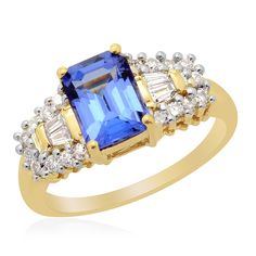 ILIANA 18K Yellow Gold Tanzanite and Diamond Ring | Liquidation Channel
