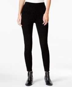 Maison Jules Textured Pull-On Pants, Only at Macy's