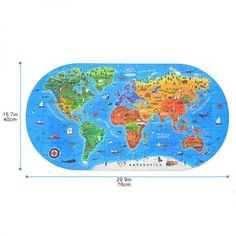 Our World Map Floor Puzzle – 100 Pieces Earth For Kids, World Map Puzzle, Steam Toys, Good Introduction, Floor Puzzle, Human Geography, Map Pictures, Developmental Toys, Our World