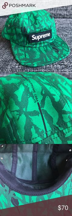 Supreme Reed Green Camo Cap Lightly used Supreme Reed Camo Cap in Green color. Bought this on the website in 2013. If you have any questions???please feel free to contact me. Thank You Supreme Accessories Hats