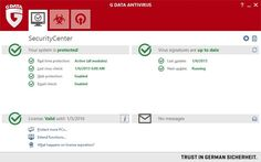G DATA AntiVirus screen shot
