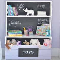 Make this cute and efficient storage piece for your little one's room this weekend! Directions on the blog.