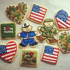 us marines decorated cookies - Google Search