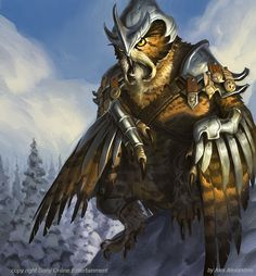 owlman or owlbear knight.   THIS IS GONNA BE A THING!! There is going to be a legit Awakened Owl Bear knight in the West!