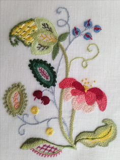 Marvelous Crewel Embroidery Long Short Soft Shading In Colors Ideas. Enchanting Crewel Embroidery Long Short Soft Shading In Colors Ideas. Bordado Jacobean, Crewel Embroidery Kits, Embroidery Needles, Learn Embroidery, Vintage Embroidery, Ribbon Embroidery, Cross Stitch Embroidery, Embroidery Patterns, Embroidery Supplies