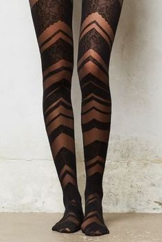 i cant decide if i like these chevron lace tights or not. so they're worth a pin. Nylons, Pantyhosed Legs, Lace Tights, Patterned Tights, Fashion Tights, Stocking Tights, Sexy Stockings, Tight Leggings, Mode Style