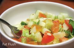 Serve this zesty and refreshing cucumber relish as a dressing or garnish with your favorite summer dishes to up the flavor factor! Vegan Gluten Free, Vegan Vegetarian, Fat Flush Diet, Vinegar Cucumbers, English Cucumber, Summer Dishes, Saute Onions, Healthy Eating, Healthy Food