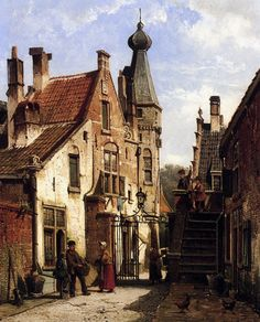 Willem Koekkoek | 1839 – 1885 | Sunny city view