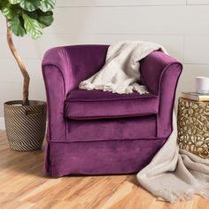 Malie Tub Design Swivel Club Chair