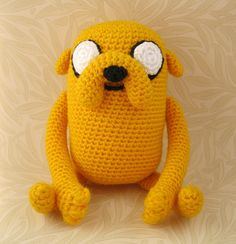 Amigurumi Jake (Adventure Time) - I like this one better than the one I made!