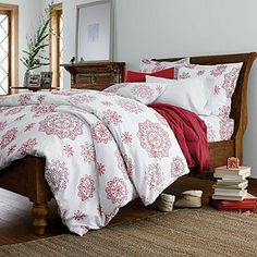 Crystal Snowflake Duvet Cover   The Company Store