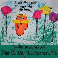 Toddler Earth Day Craft - Handprint Lorax