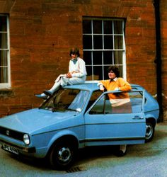 Diana Spencer with her first car.