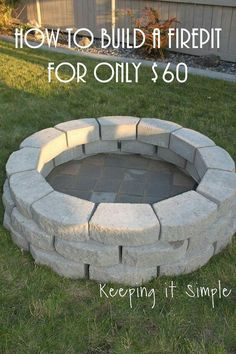 Upcycle. Cinder blocks into fire pit