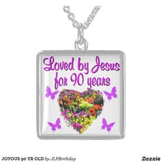 JOYOUS 90 YR OLD Enjoy our uplifting and inspiring selection of 90th birthday jewelry. 15% Off Sitewide Use Code: BESTBIZCARDZ http://www.zazzle.com/jlpbirthday/gifts?cg=196466070953440941&rf=238246180177746410  #90thbirthday #90yearsold #Happy90thbirthday #90thbirthdaygift #90thbirthdayidea #90yroldChristian  #happy90th #Blessed90th