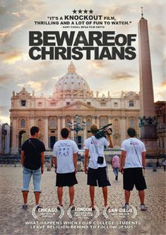 Beware of Christians - DVD | What happens when four college students leave religion behind to follow Jesus,  This is a very powerful movie, it really makes youth ask the hard questions about being a Christian.  I would highly recommend it for any youth group.