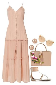 """""""Untitled #773"""" by gabbyriera on Polyvore featuring Bardot, Dolce&Gabbana, Schutz, Bloomingdale's and Linda Farrow"""