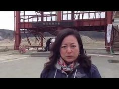 Minami Sanriku cho, Tohoku(Tsunami affected area) In front of ruin of crisis prevention department...