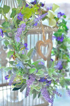 preserved flowers wreath.