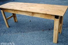 Narrow Farmhouse Table Computer Desk | Do It Yourself Home Projects from Ana White