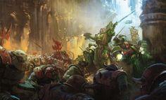40k - Dark Angels vs Orks at the Battle of Piscina IV