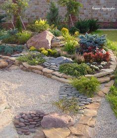 New small patio garden design decor ideas Backyard Patio Designs, Front Yard Landscaping, Patio Ideas, Backyard Ideas, Landscaping Ideas, Diy Patio, Firepit Ideas, Mulch Landscaping, Rock Garden Design