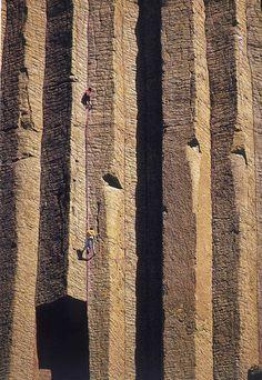 Catherine Destivelle - Devil's Tower en Wyoming, en compañía de Lothar
