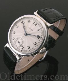 An early round silver vintage Rolex watch, 1922