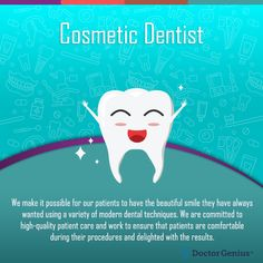 Using a cosmetic dentist is paramount to getting a healthy, gorgeous smile. Learn about cosmetic dentist procedures and how they can enhance your smile Teeth Implants, Dental Implants, Smile Dental, Dental Care, Dental Bonding, Dental Cosmetics, Dental Procedures, Stained Teeth, Teeth Bleaching