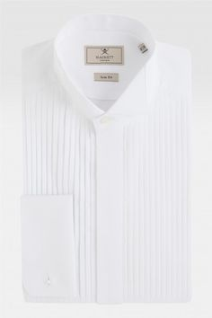 chemise lgante plisse devant col cass hackett tenue de soire acheter par produit - Chemise Col Cass Mariage