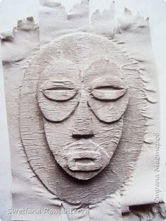 Hello, residents of the Land of Masters! I present to your attention two masks made of cardboard. Cardboard Sculpture, Polymer Clay Sculptures, Cardboard Crafts, Sculpture Clay, Tiki Maske, Ceramic Mask, Arte Do Kawaii, African Art Paintings, African Masks