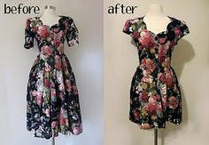 59 Ideas diy wedding dress makeover for 2019 Diy Wedding Dress, Diy Dress, Blouse Dress, Dress Makeover, Diy Beauty Care, Diy Beauty Treatments, How To Make Clothes, Diy Clothing, Refashion